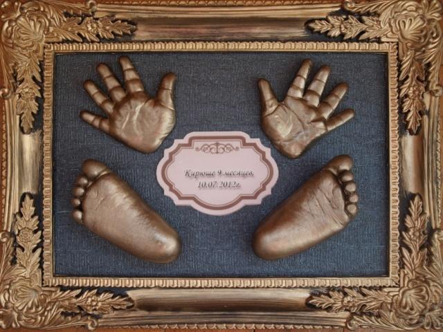 Из чего сделать слепок руки в домашних